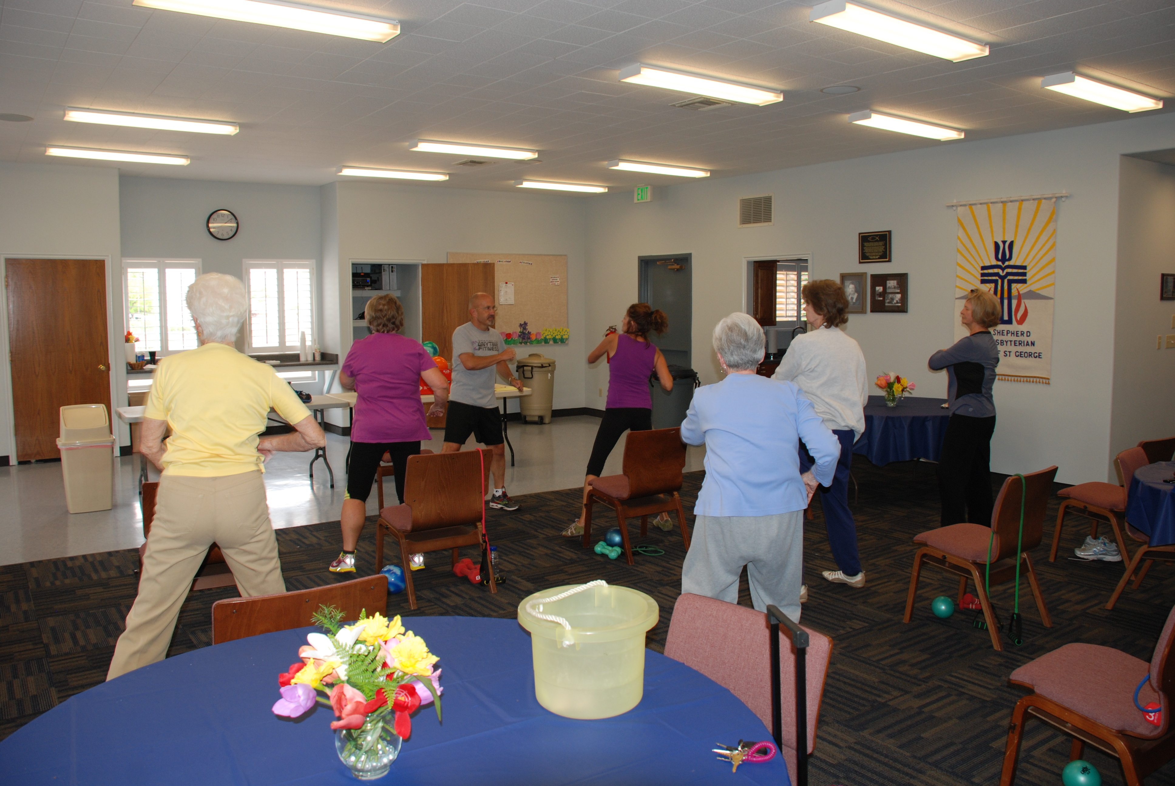 Rev Ralph Leads Exercise Class